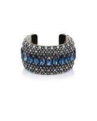 Lanvin - Black Crystal-embellished Cuff - Lyst