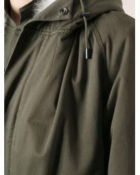 Yves Salomon Green Fur-lined Parka for men