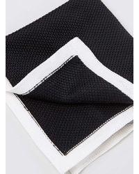 TOPMAN - Premium Black Knit Outline Pocket Square for Men - Lyst