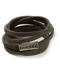 DIESEL | Green Acavi Bracelet for Men | Lyst