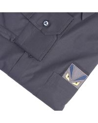 Fendi - Blue Shirt for Men - Lyst