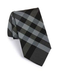 Burberry - Gray 'clinton' Cotton & Silk Tie for Men - Lyst