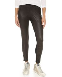Monrow | Black Half & Half Leggings | Lyst
