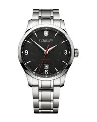 Victorinox | Black 'alliance' Round Bracelet Watch for Men | Lyst