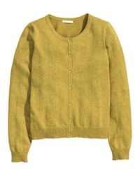 H&M Yellow Cotton Cardigan