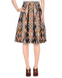Erika Cavallini Semi Couture - Natural Knee Length Skirt - Lyst