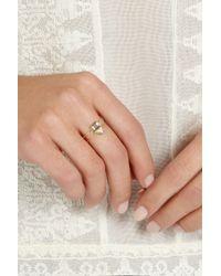 Jennifer Meyer - Metallic 18-Karat Gold Diamond Rectangle Ring - Lyst