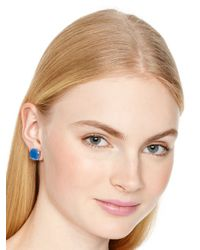 kate spade new york | Small Square Stud Earrings - Ocean Blue | Lyst