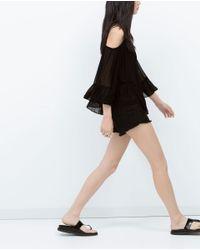 Zara   Black Off-shoulder Top   Lyst