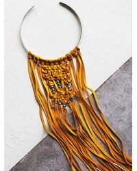 Free People | Orange Sun And Glory Womens Sun Rays Choker | Lyst