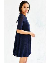 Kimchi Blue - Blue Fluffy Trapeze Dress - Lyst