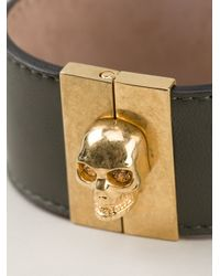 Alexander McQueen Green Skull Cuff