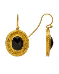Gurhan | Metallic Renaissance 24k Gold And Black Sapphire Earrings | Lyst