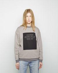 Golden Goose Deluxe Brand - Gray Jen Double Faced Sweatshirt - Lyst
