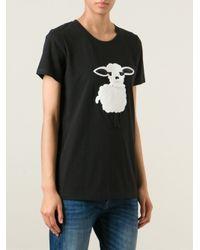DKNY - Black Sheep Appliqué T-Shirt - Lyst