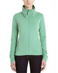 Bench - Green Funnel Neck Fleece Jacket - Lyst