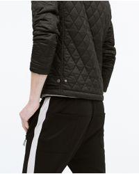 Zara   Black Padded Jacket for Men   Lyst