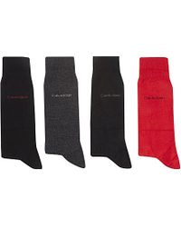 Calvin Klein - Black Holiday Socks Giftbox 4-pairs for Men - Lyst