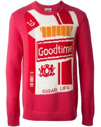 Christopher Shannon Pink 'Good Time' Sweater for men