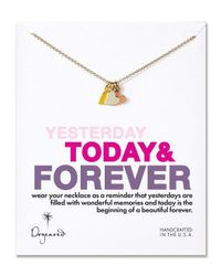 Dogeared | Metallic Yesterday, Today, Forever Necklace, 18"