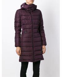 Moncler Purple 'Flamette' Padded Coat