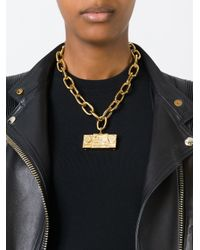 Moschino | Metallic Stereo Pendant Necklace | Lyst