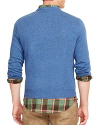 Polo Ralph Lauren | Blue Merino Crewneck Sweater for Men | Lyst