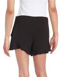 Free People - Black Flutter Shorts - Lyst