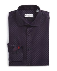 Robert Graham | Blue 'easton' Tailored Fit Check Dress Shirt for Men | Lyst