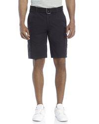 DKNY - Black Belted Cargo Shorts for Men - Lyst