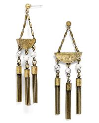 BaubleBar | Metallic 'shanghai' Tassel Drop Earrings - Antique Gold | Lyst
