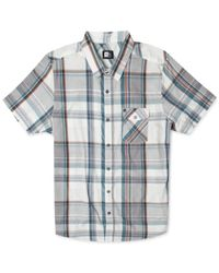 Rip Curl | Gray Mancos Plaid Short-sleeve Shirt for Men | Lyst