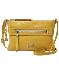 Fossil Metallic Dawson Leather Crossbody