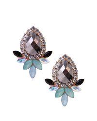 AKIRA Blue Floral Bud Earrings