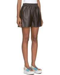 Acne Studios | Black Leather Salt Shorts | Lyst