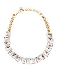 Lee Angel - White Rectangle Crystal Necklace - Lyst