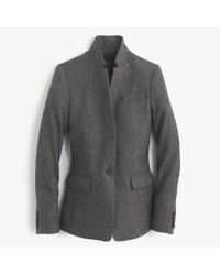 J.Crew Gray Regent Blazer In Donegal Wool