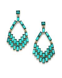ABS By Allen Schwartz | Green Box Of Jewels Baguette Chandelier Earrings | Lyst