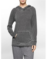 Calvin Klein | Gray White Label Performance Lightweight Distressed Hooded Top | Lyst