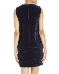 Ter Et Bantine - Blue Quilted Velvet Shift Dress - Lyst