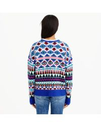J.Crew Multicolor Collection Cashmere Graphic Fair Isle Sweater
