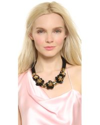 Holst + Lee - Volcanic Flower Necklace - Black - Lyst