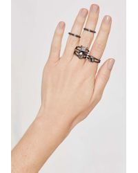 Nasty Gal - Black Son Of A Gunmetal 5-pc Ring Set - Lyst