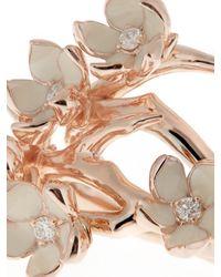 Shaun Leane | Pink Diamond, Enamel & Rose Gold-plated Ring | Lyst