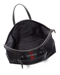 Gucci - Black Techno Canvas Duffel Carry-on Bag for Men - Lyst