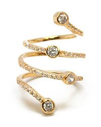 Noir Jewelry | Metallic Martha Swirle Ring | Lyst