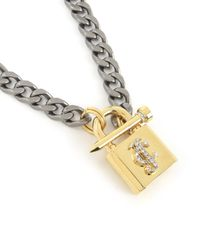 Juicy Couture | Metallic Chunky Jc Padlock Chain Necklace | Lyst