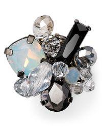 Aqua Gray Padma Cluster Pin