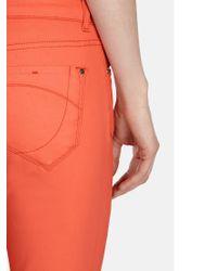 Karen Millen Orange Coated Skinny Jeans