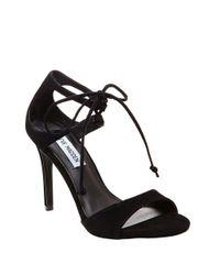 Steve Madden Black Semona Suede High-heel Sandals